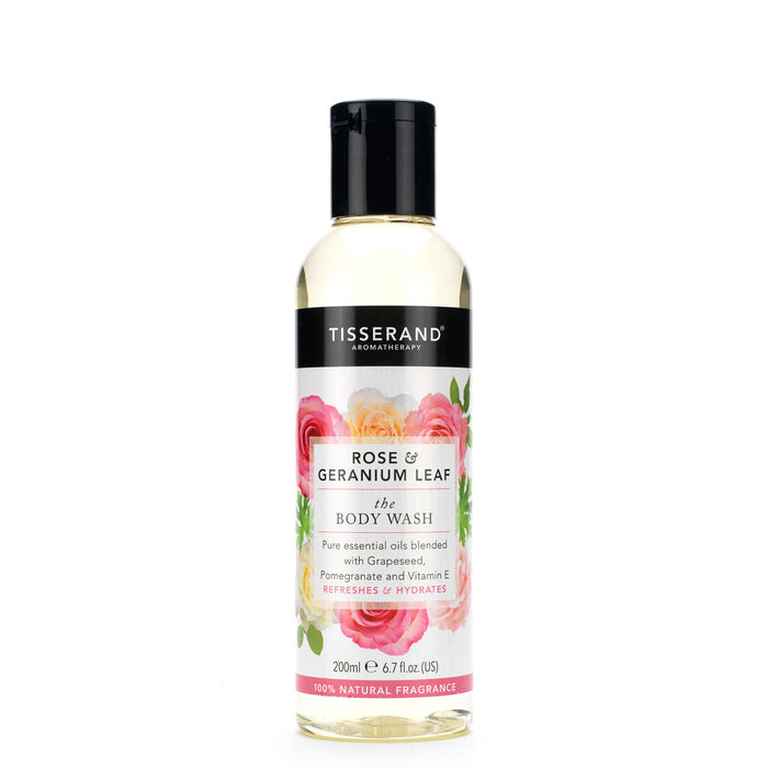 Tisserand Rose & Geranium The Body Wash 200ml