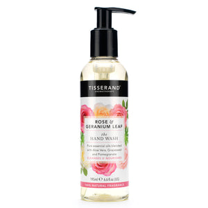 Tisserand Rose & Geranium Leaf Hand Wash 195ml