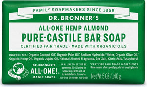 Dr. Bronner's Almond Pure Castille Bar Soap 140g