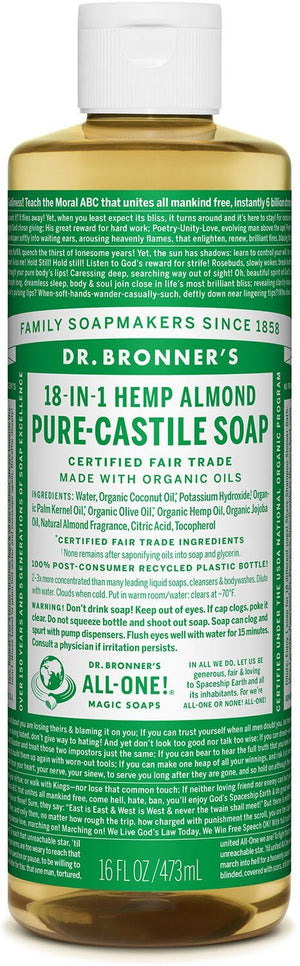 Dr. Bronner's Almond Pure Castille Liquid Soap 473ml