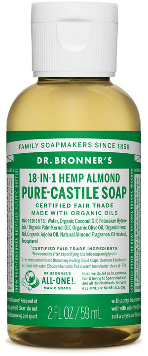Dr. Bronner's Almond Pure Castille Liquid Soap 59ml