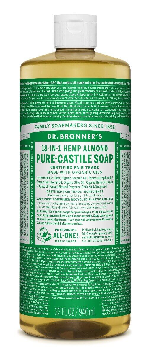 Dr. Bronner's Almond Pure Castille Liquid Soap 946ml