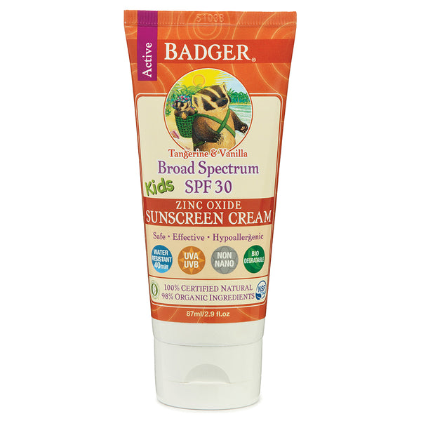 Badger Kids Sunscreen Cream SPF 30 87ml