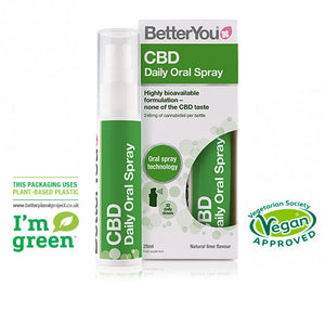 BetterYou™ CBD Oral Spray 7.5mg CBD per dose 25ml