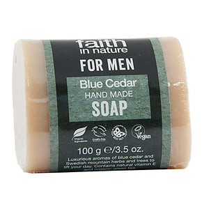 Faith in Nature Blue Cedar for Men Pure Vegetable Soap 100g