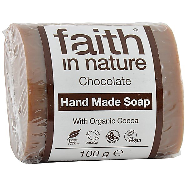 Faith in Nature Chocolate Pure Vegetable Soap 100g