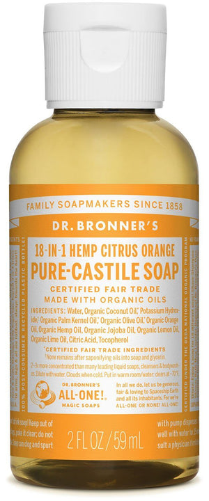Dr. Bronner's Citrus Pure Castille Liquid Soap 59ml