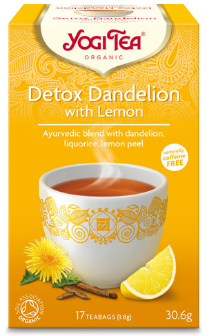 Yogi Tea® Detox Dandelion with Lemon Organic 17 Bags