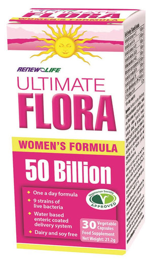Renew Life Ultimate Flora Women's Formula Probiotic 50 Billion 30 veg caps