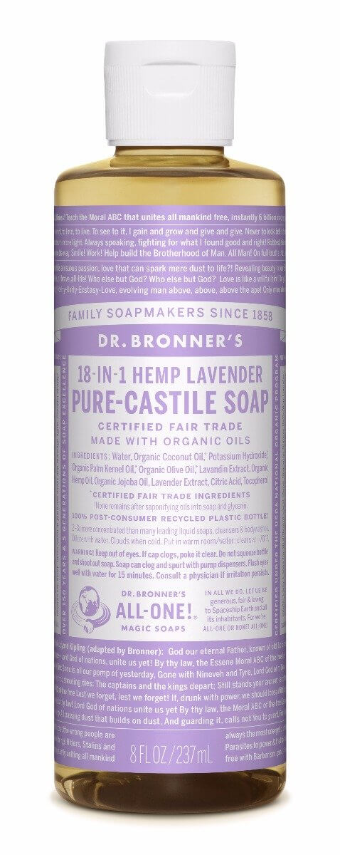 Dr. Bronner's Lavender Pure Castille Liquid Soap 237ml