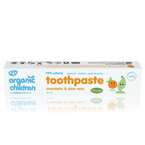 Green People Organic Children Mandarin & Aloe Vera Toothpaste 50ml – with fluoride