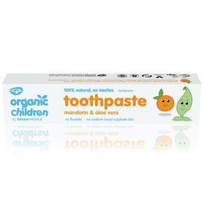 Green People Organic Children's Mandarin Toothpaste Fluoride Free 50ml