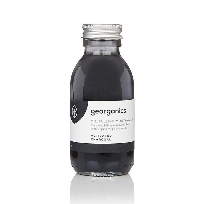 Georganics Oil Pulling Mouthwash - Activated Charcoal 300ml