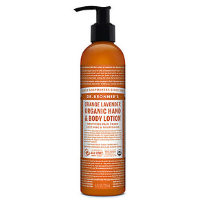 Dr. Bronner's Orange Lavender Hand and Body Lotion 236ml