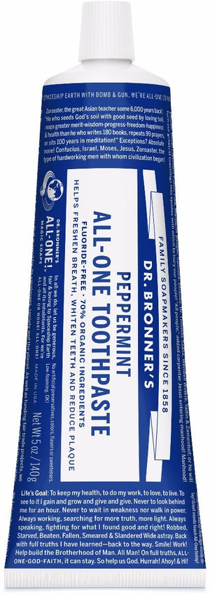 Dr. Bronner's All-One Toothpaste Peppermint 148ml