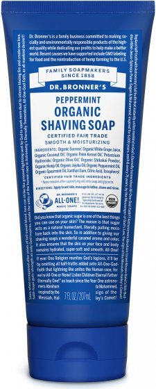 Dr. Bronner's Organic Shaving Soap Peppermint 208ml