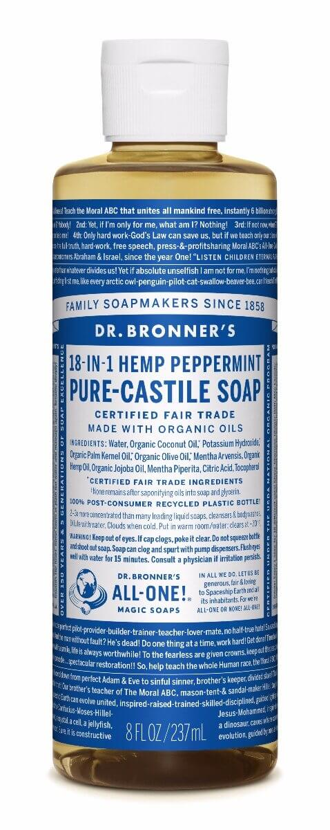 Dr. Bronner's Peppermint Pure Castille Liquid Soap 237ml
