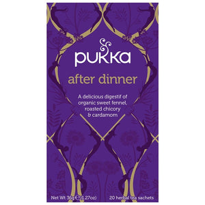 Pukka After Dinner 20 plastic free tea bags