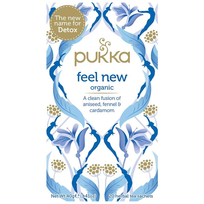 Pukka Feel New - Detox 20 plastic free tea bags