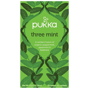 Pukka Three Mint 20 plastic free tea bags