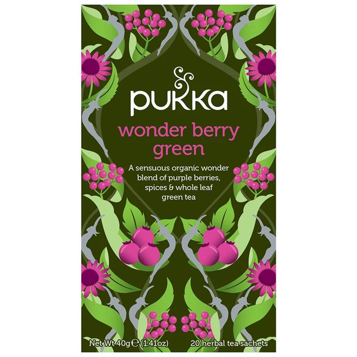 Pukka Wonder Berry Green 20 plastic free tea bags