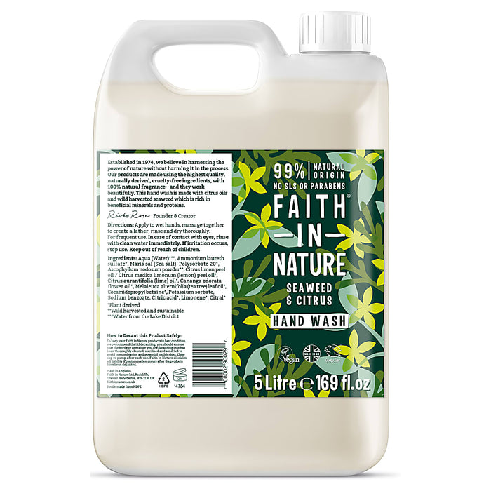 Faith in Nature Seaweed & Citrus Handwash 5000ml