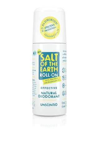 Salt of the Earth - Natural Deodorant Roll-On Unscented 75ml