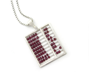 Garnet Abacus Necklace