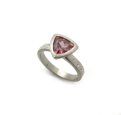 Rose Zircon Ring