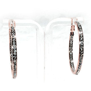 EARRING 40MM ROUND CRYSTAL HOOPS