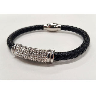 BRACELET BRAIDED CRYSTAL BAR