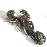 BROOCH SCORPION MULTI/ SILVER
