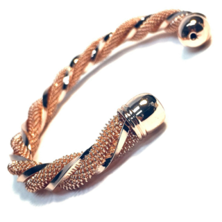 BRACELET BRAIDED ROSE GOLD BANGLE