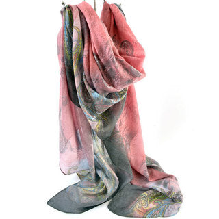 SCARF PAISLEY WATER COLOURS