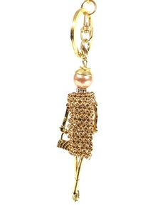 KEYCHAIN SHOPPING DIVA GOLD
