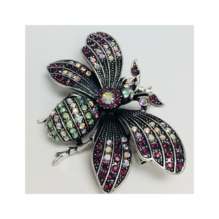 BROOCH BUTTERFLY PURPLE/MULTI