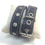 BRACELET BLUE JEAN BUCKLE WRAP