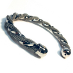 BRACELET BRAIDED SILVER BANGLE