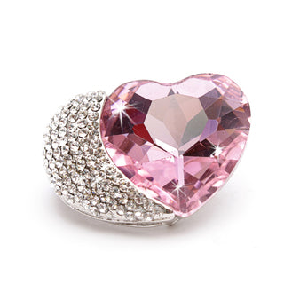 BROOCH CRYSTAL HEART