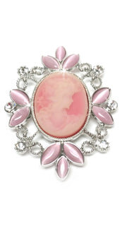 BROOCH CAMEO PINK MAGNET
