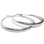EARRING 55MM SHIMMER CLASSIC HOOPS SILVER