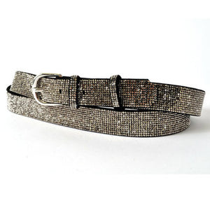 BELT BLACK CRYSTALS LARGE (123 CM)