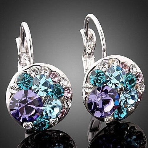 Cubic Zirconia Full Crystal Earrings