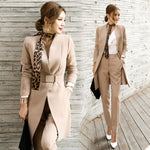 Women Long Blazer Two Pieces Sets