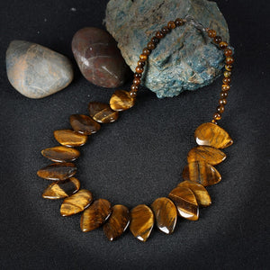 Vintage Retro Tiger Eye Necklace