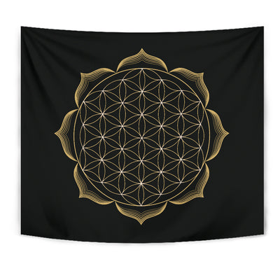 Flower Of Life Tapestry - buddhakind - sacred geometry tapestry
