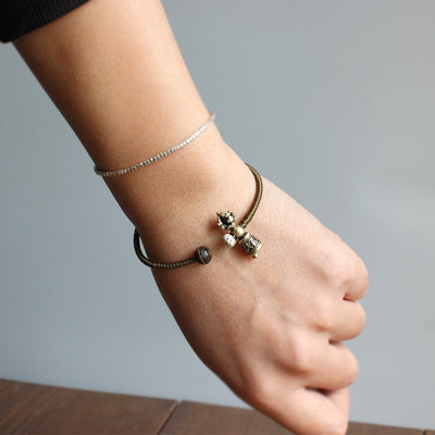 Handmade Buddhist Vajra Charm Bangle