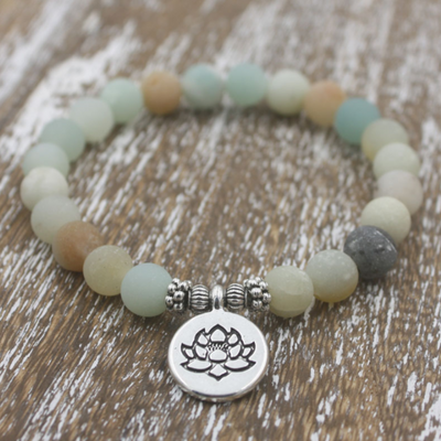 Soothing Aquatic Amazoned wrist Mala