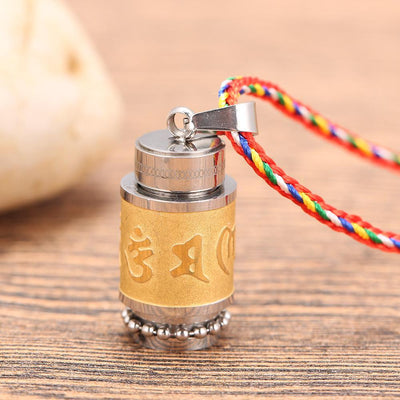 Tibetan Prayer Wheel Necklace