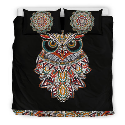 Owl Mandala Bedding Set